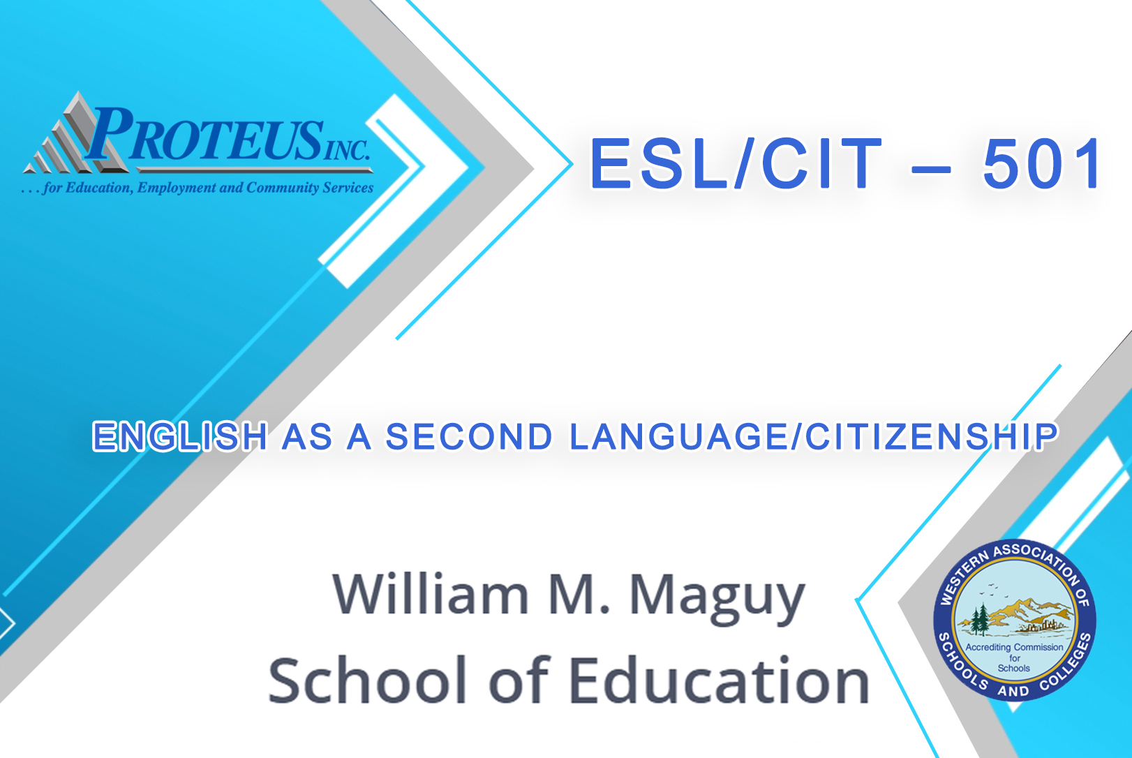 ENGLISH AS A SECOND LANGUAGE/CITIZENSHIP